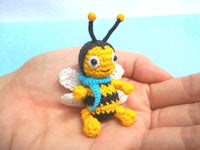 Mini Crochet Bee Doll
