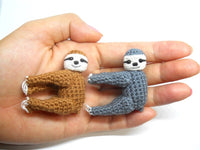 Miniature Crocheted Sloth