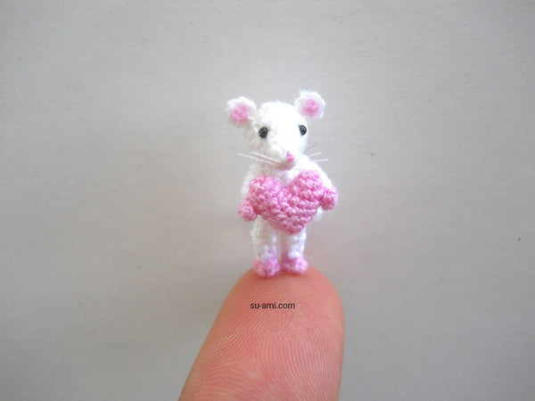 0.8 Inch Mouse With Heart