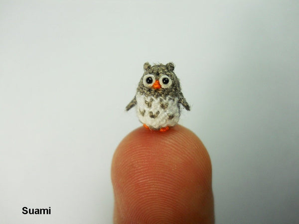 Miniature Crochet Owl