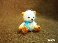 Cute White Bear Blue Bow