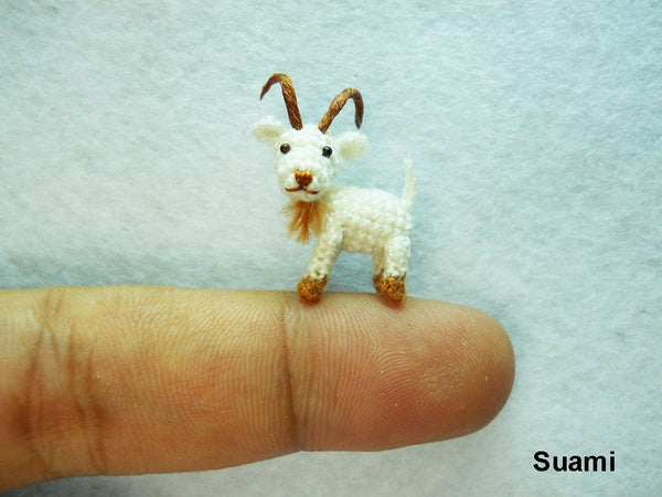 Mini Miniature White Goat