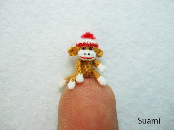 Mini Amigurumi Sock Monkey