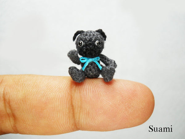 Mini Black Pug Dog