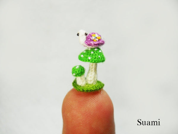 Micro Purple Turtle Green Mushroom