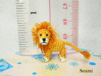 Miniature Crochet Lion