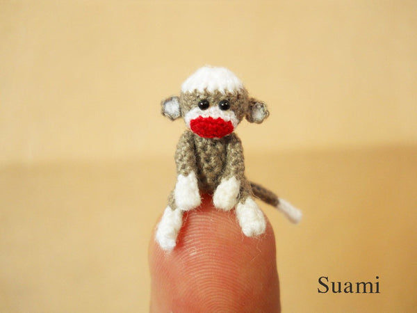 0.8 Inch Tiny Sock Monkey