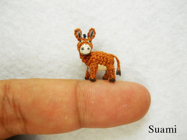 Miniature Brown Donkey 0.6 Inch