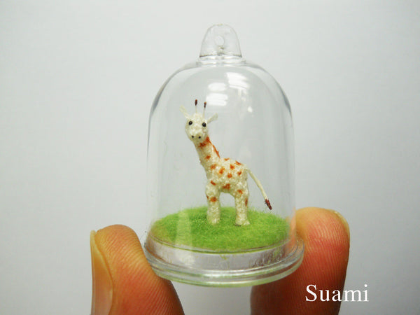 Miniature Giraffe In Tiny Dome