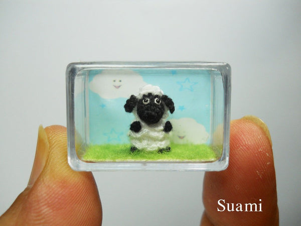 Tiny Crochet Sheep Lamb