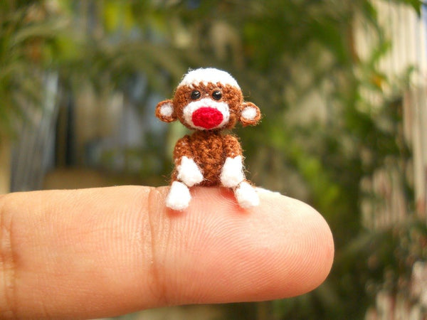 Mini Sock Monkey 1 Inch