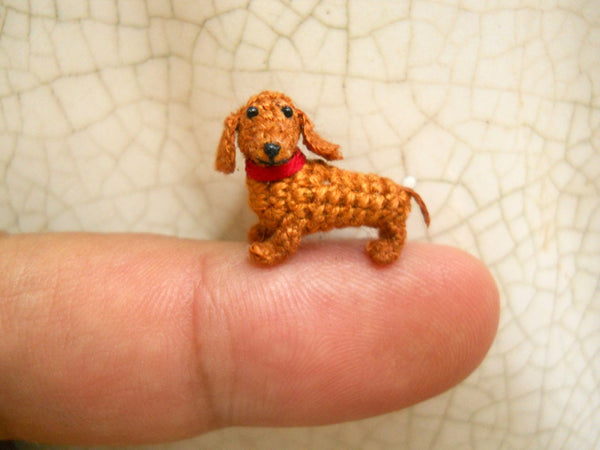 0.6 Inch Brown Dachshund