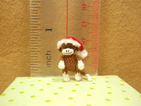 Christmas Sock Monkey Doll
