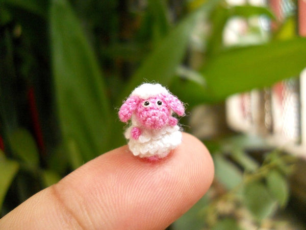 Cute Miniature Pink Sheep