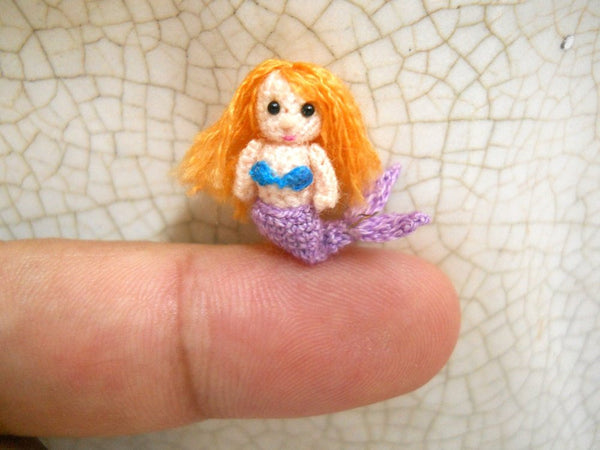 Micro Amigurumi Mermaid