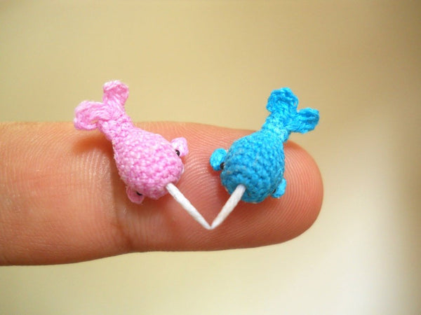 Miniature Narwhal Couple