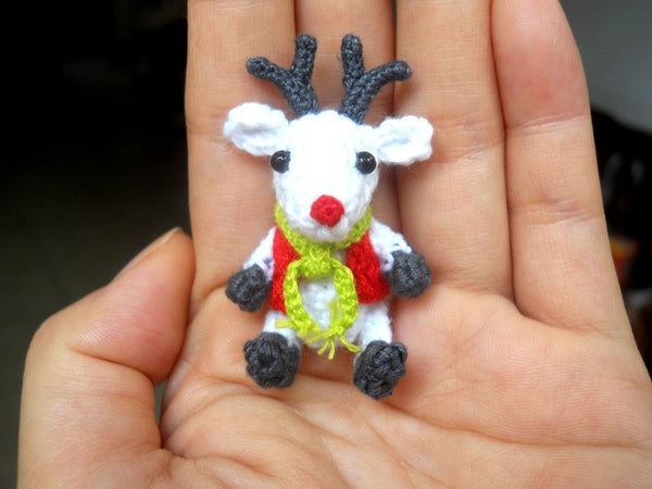 Mini Crochet Reindeer