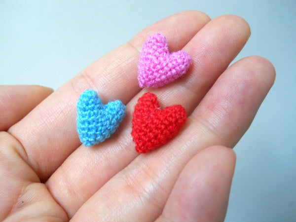 Micro Crocheted Heart