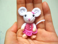 Small Crochet Mouse Girl