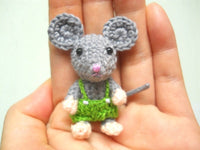 Mini Crochet Mouse Boy