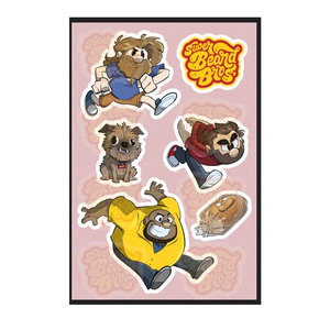 Super Beard Bros Sticker Sheet