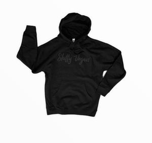 All Black Embroidered Hoodie