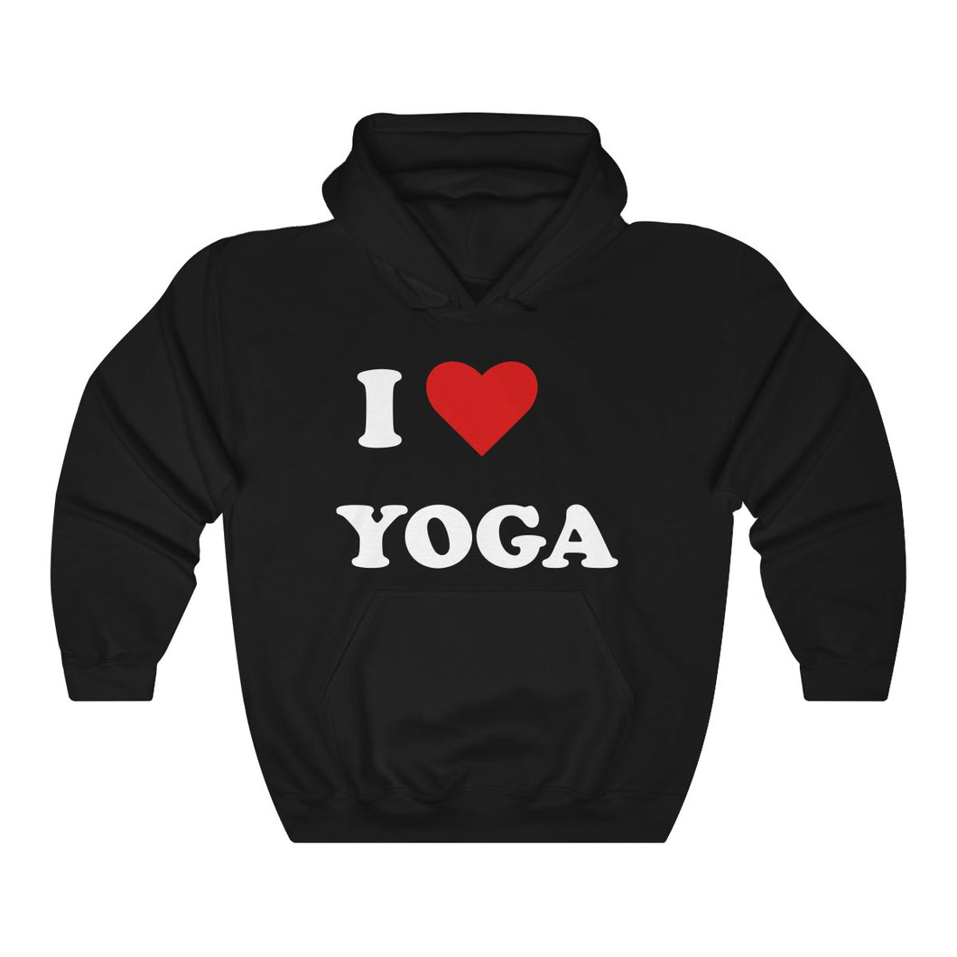 I Love Yoga Unisex Heavy Blend™ Hooded Sweatshirt