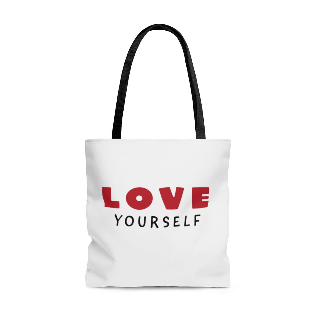 Love Yourself AOP Tote Bag