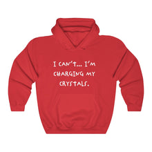 Load image into Gallery viewer, I Can't I'm Charging My Crystals Unisex Heavy Blend™ Hooded Sweatshirt