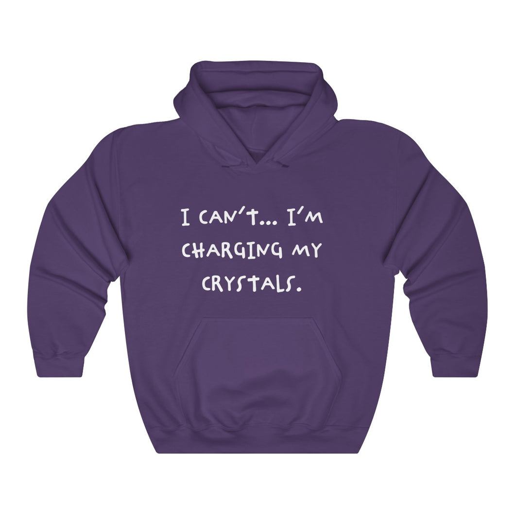 I Can't I'm Charging My Crystals Unisex Heavy Blend™ Hooded Sweatshirt