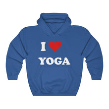 Load image into Gallery viewer, I Love Yoga Unisex Heavy Blend™ Hooded Sweatshirt