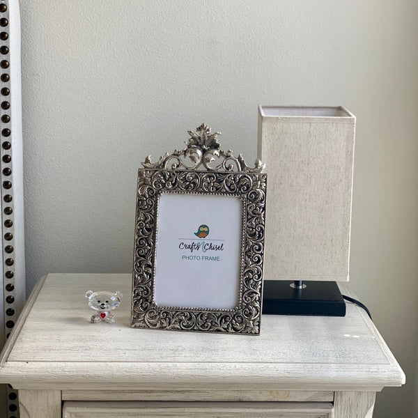 "Antique finish Photo Frame 13"" - Home Decor - Decorative Gift item - Crafts N Chisel"