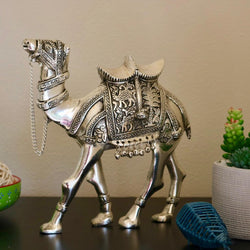 Silver Plated Antique Decorative Camel - Handmade Home Decor - Gift Item - Home Decor - Crafts N Chisel