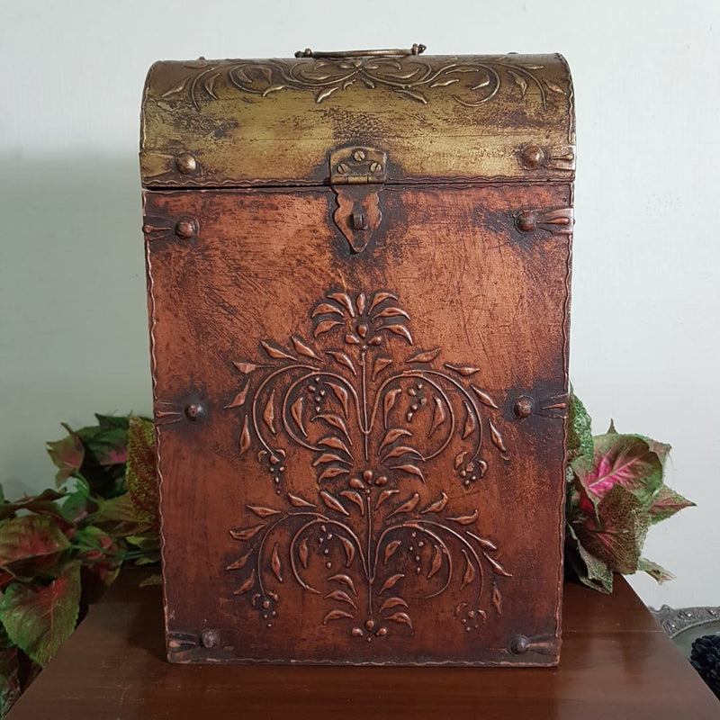 Vintage 2 Bottle Treasure Chest - Crafts N Chisel - Indian home decor - Online USA