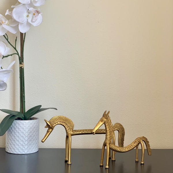Dhokra Brass Horse (Set of 2)- Handmade Home Decor - Decorative Gift Item - Home Decor - Crafts N Chisel