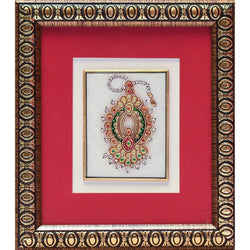 Handcrafted Jewelry Painting -  Gold Leaf Meenakari Marble Art - Wall Hanging, Wall Decor - Crafts N Chisel - Indian home decor - Online USA