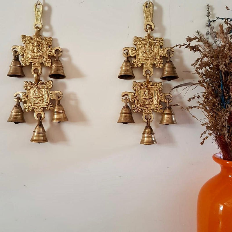 Laxmi Ganesh Brass Bell (Set of 3) - Home decor - Crafts N Chisel