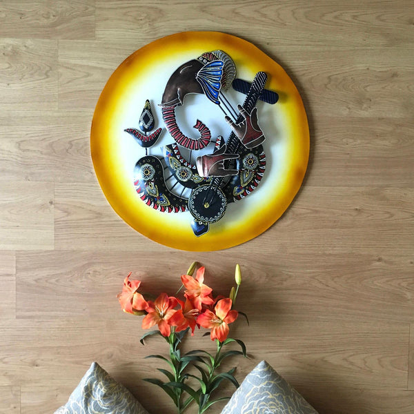 Musician Ganesh Wall Decor - Crafts N Chisel