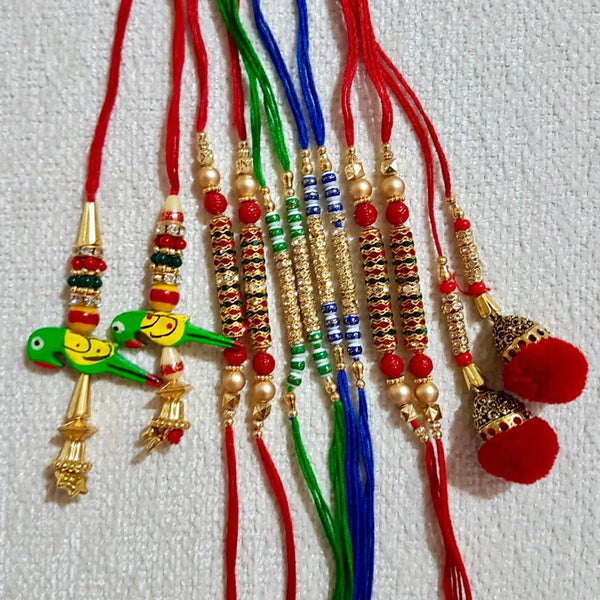 Rakhi Set of 12 - Rakshabandhan Festival Celebration - Crafts N Chisel