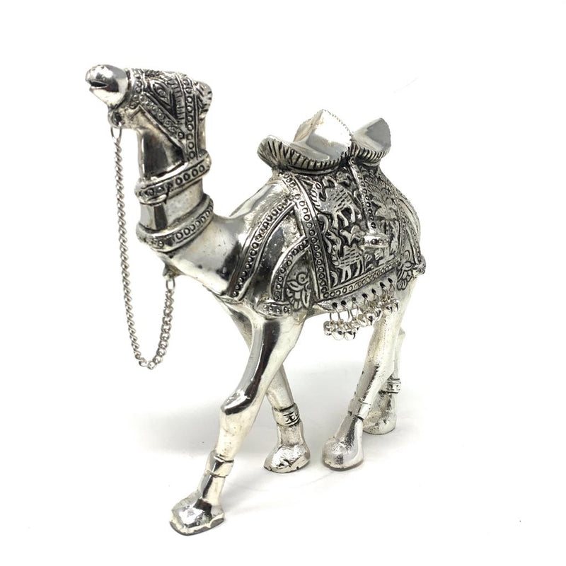 Silver Plated Antique Decorative Camel - Handmade Home Decor - Gift Item - Crafts N Chisel - Indian home decor - Online USA