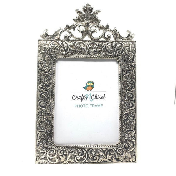 Silver Plated Antique Photo Frame (Set of 2) - Home Decor - Decorative Gift item - Home Decor - Crafts N Chisel