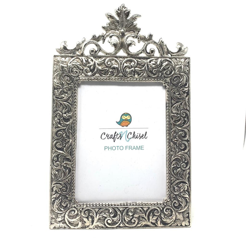 Silver Plated Antique Photo Frame (Set of 2) - Home Decor - Decorative Gift item - Crafts N Chisel - Indian home decor - Online USA