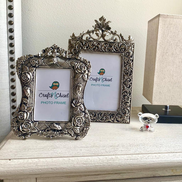 Antique Photo Frame (Set of 2) - Home Decor - Decorative Gift item - crafts n chisel