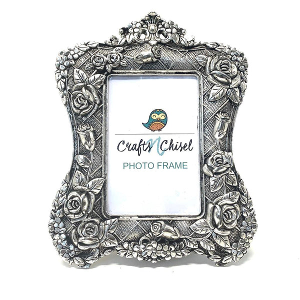 Silver Plated Antique Photo Frame - Home Decor - Decorative Gift item - Home Decor - Crafts N Chisel
