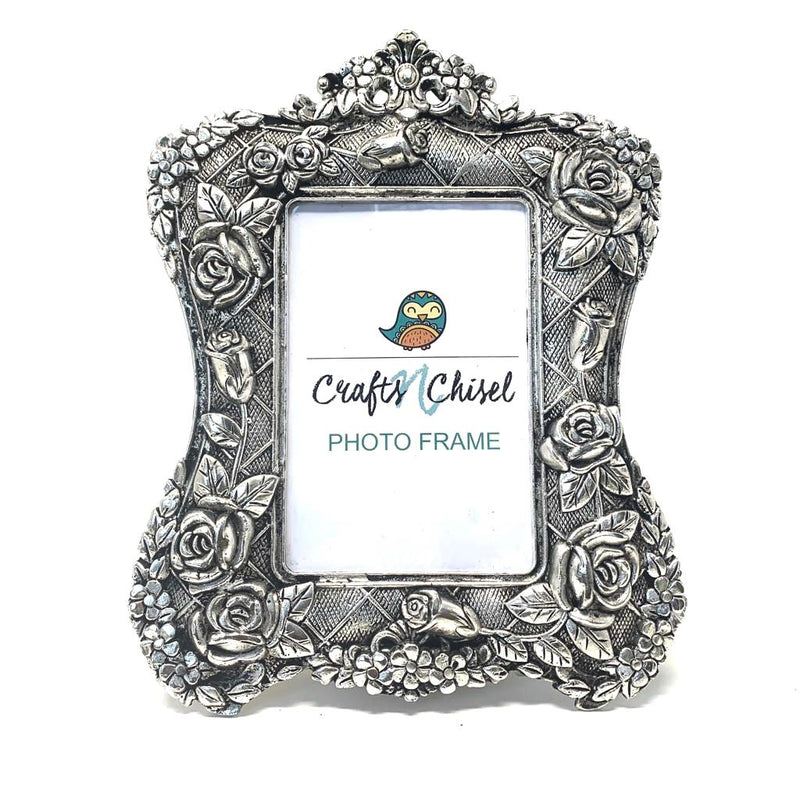 Silver Plated Antique Photo Frame - Home Decor - Decorative Gift item - Crafts N Chisel - Indian home decor - Online USA
