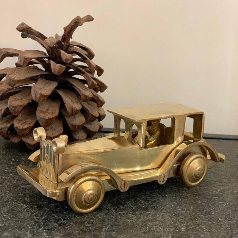 Decorative Brass Car - Crafts N Chisel - Indian home decor - Online USA