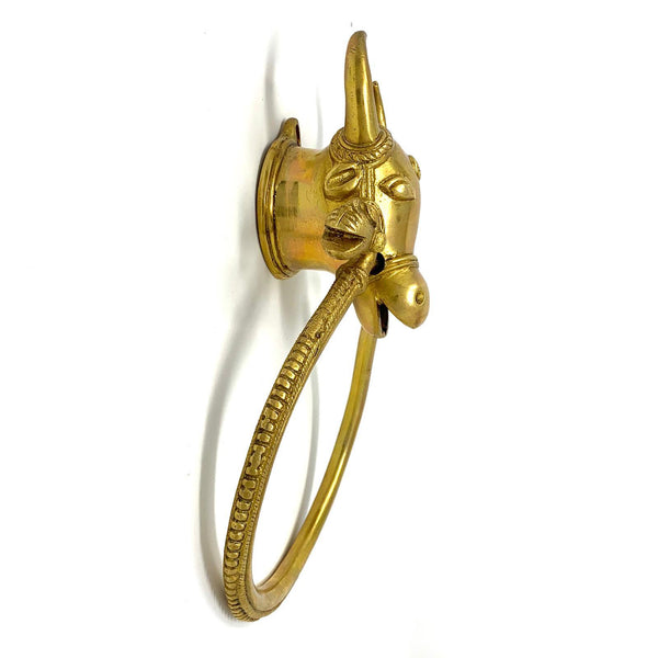 Cow Door knocker - Brass Work Door Hanging - Home Decor - Home Decor - Crafts N Chisel