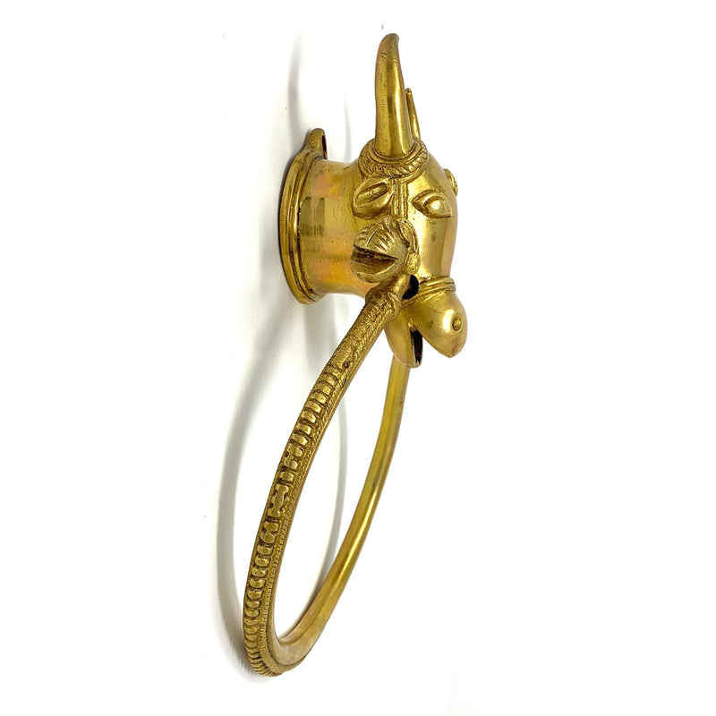Cow Door knocker - Brass Work Door Hanging - Home Decor - Crafts N Chisel - Indian home decor - Online USA