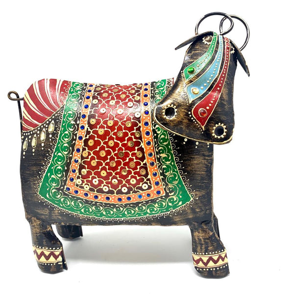 Handcrafted Decorative Metallic Cow - Crafts N Chisel - Indian home decor - Online USA