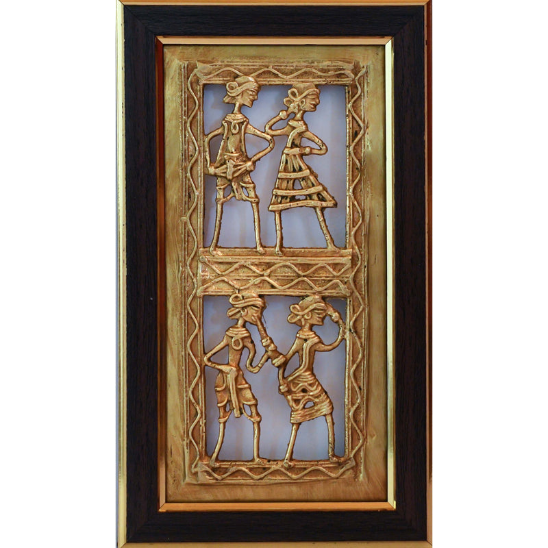 Dhokra Art Wall Hanging - Wall decor - Home Decor - Home Decor - Crafts N Chisel